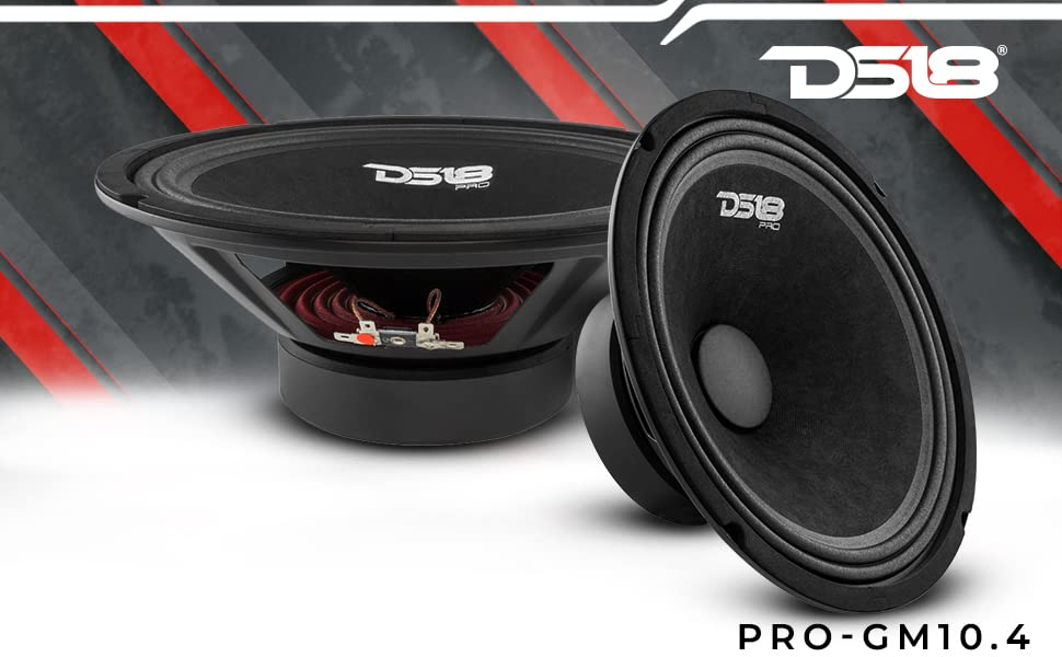 10 inch car audio 4 ohm midrange with bullet for better bass response