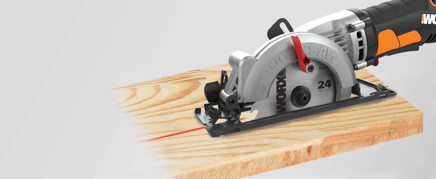 The body of the tool stays out of the way so you get exceptional cut-line visibility.