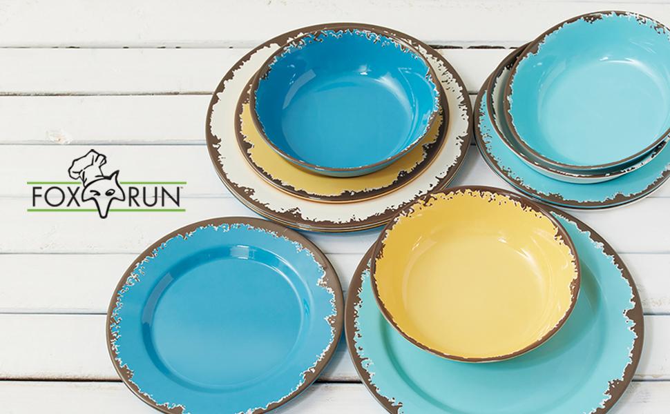 melamine dinnerware; melamine dinner set; melamine plate set; rustic dinnerware set; rustic melamine