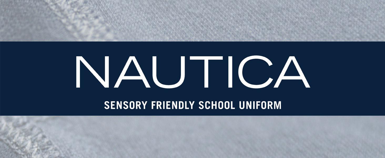Nautica Boys School Uniform Sensory-Friendly French Terry Short