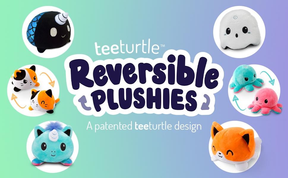 cute kawaii reversible plush adorable animal reversible ghost octopus unicorn present gift plushie