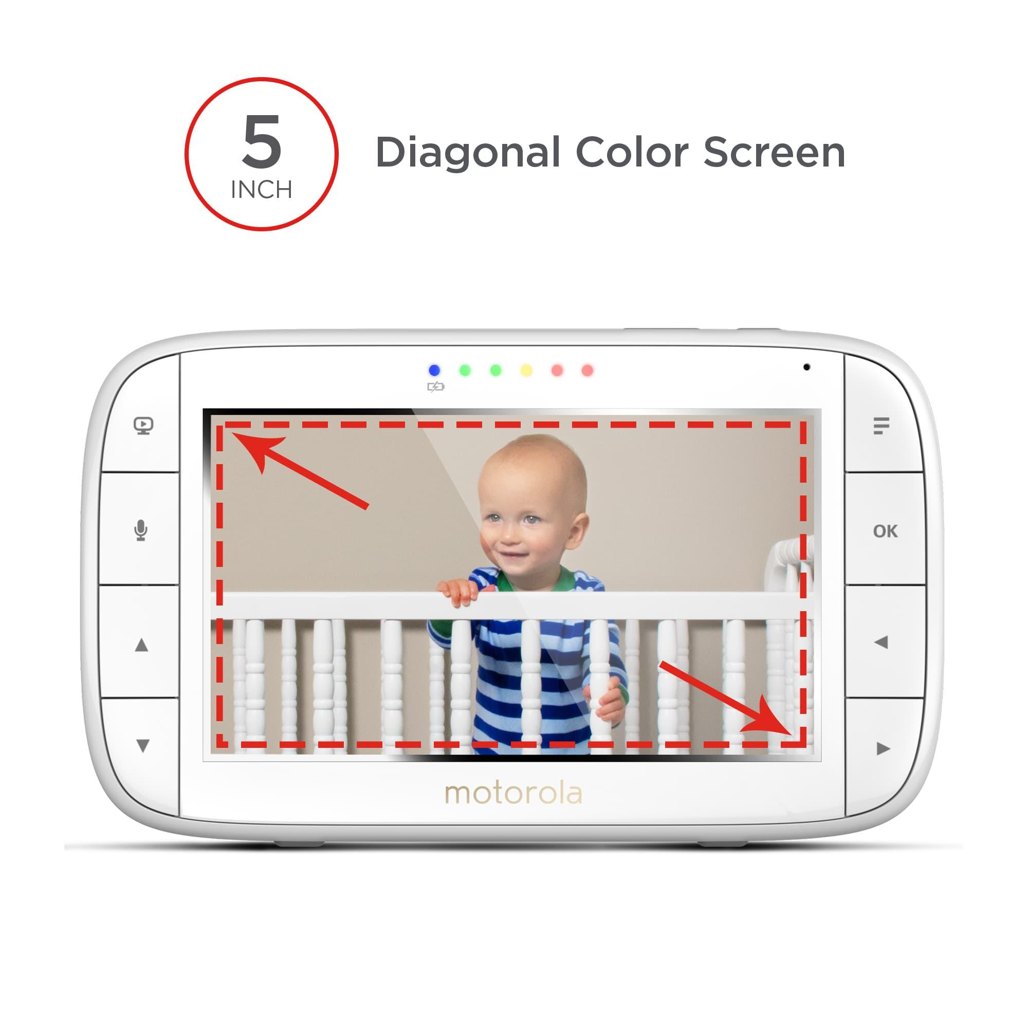 motorola mbp36xl 5 inch colour screen video baby monitor baby. Black Bedroom Furniture Sets. Home Design Ideas