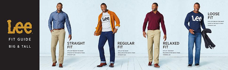 LEE Mens Big /& Tall Performance Series Traveler Short
