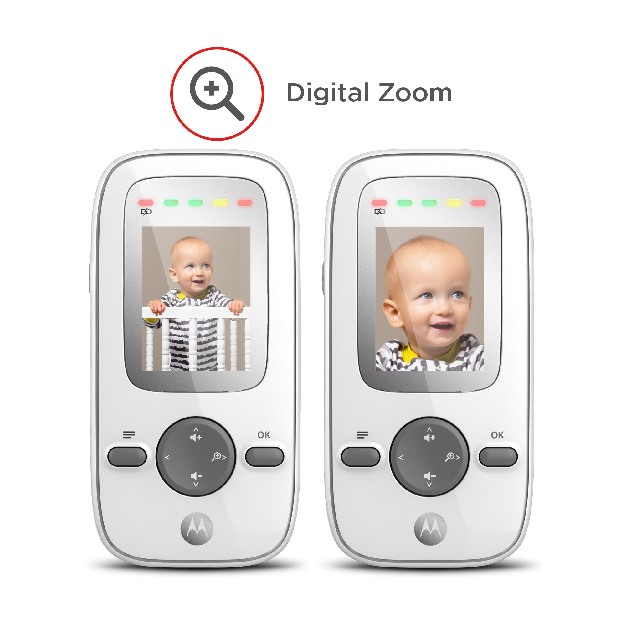 motorola mbp481 digital video baby monitor with 2 inch display silver baby. Black Bedroom Furniture Sets. Home Design Ideas