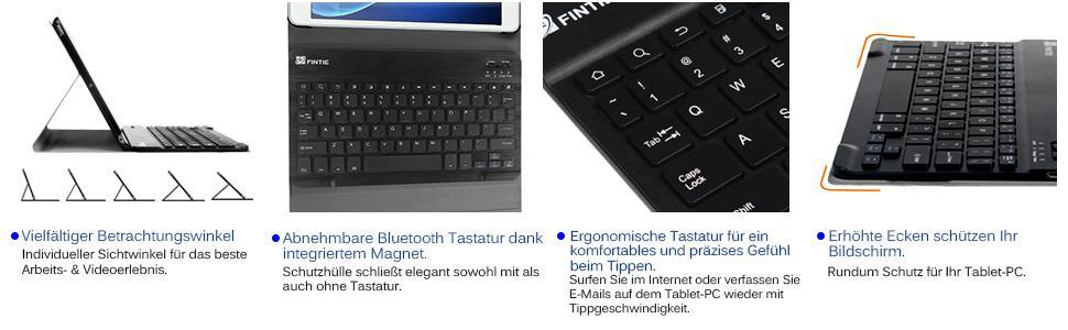 Fintie Tastatur Hülle für Samsung Galaxy Tab: Amazon.de