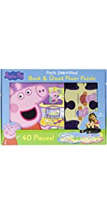 Peppa Pig - First Look and Find Board Book & Giant 40 Piece Puzzle