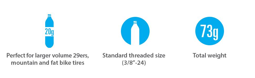 Genuine Innovations 4 x Fat Threaded 20g CO2 Bike//Cycling Tyre Pump Cartridges