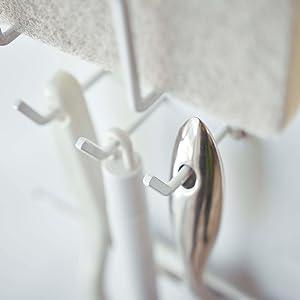 山崎実業 マグネットバスルームクリーニングツールホルダー タワー ホワイト 4976