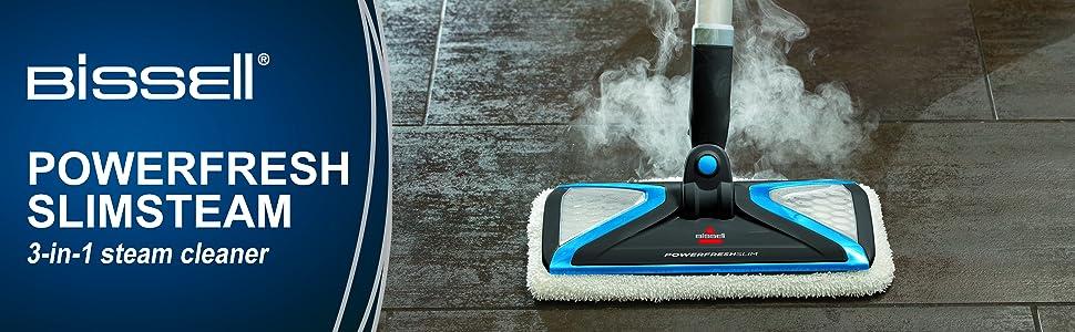 BISSELL PowerFresh Slim 3 in 1 Steam Mop White New
