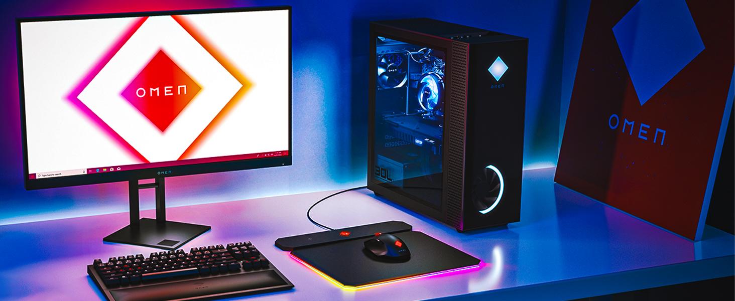 Hewlett-packard gamin-g-tower desk-top hp-computer surround-sound Ampere 4k-gaming type-c k-series