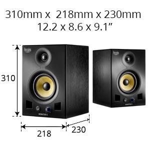Hercules, Monitor 5, bi-amplified monitoring speakers
