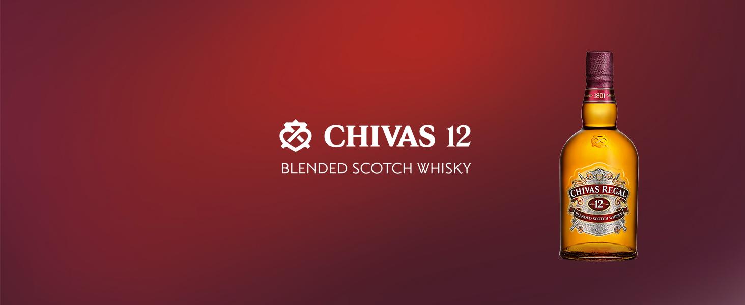 Chivas Regal 12 años Whisky Escocés de Mezcla - 700 ml: Amazon.es: Alimentación y bebidas