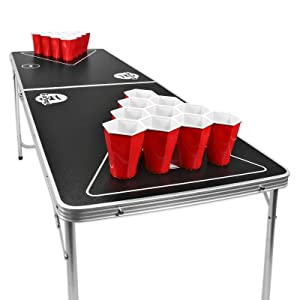 Gopong 6 Foot Portable Folding Beer Pong Flip Cup Table 6
