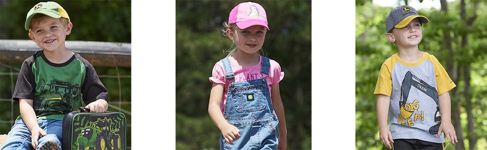 John Deere Boy Girl Baseball Caps
