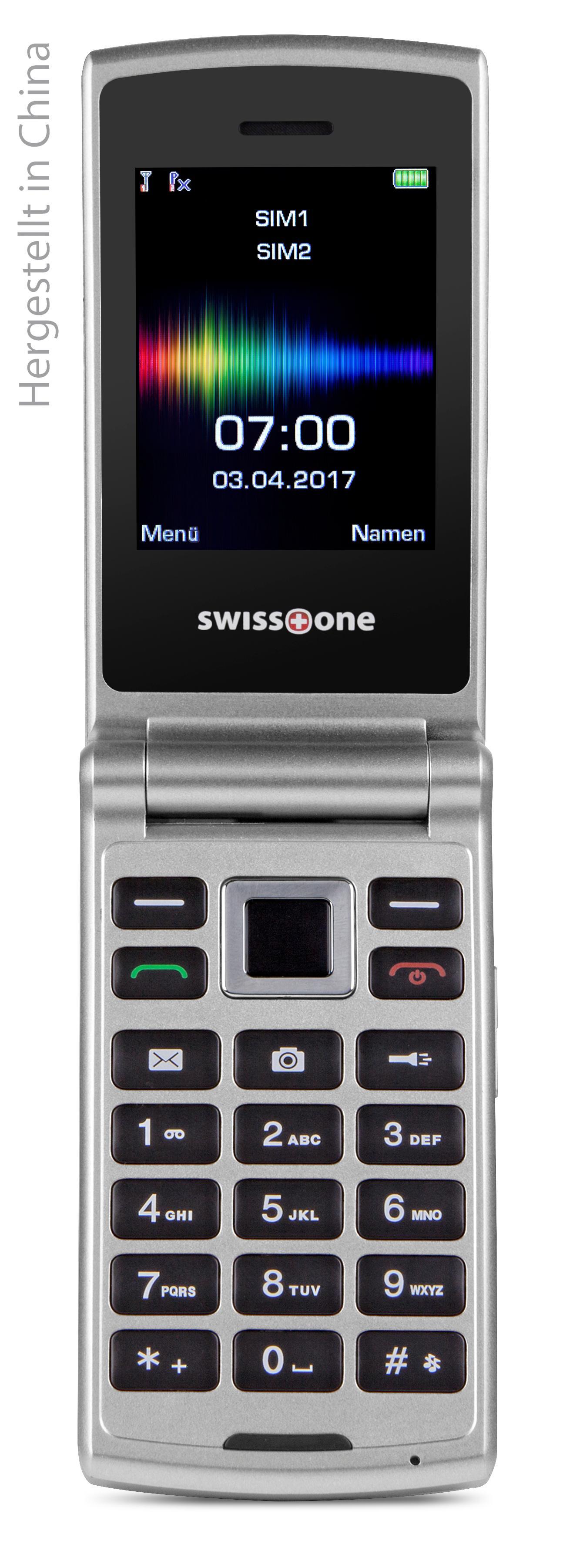 Swisstone SC 700 6,0 cm Dual SIM Handy silber: Amazon.de