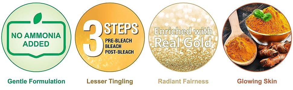 Gold Bleach, Fairness Bleach, Herbal Bleach, Face Bleach, Safe Bleach, Mild Bleach, Gentle Bleach