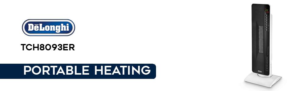 TCH 8093ER; tower fan heater; delonghi heaters