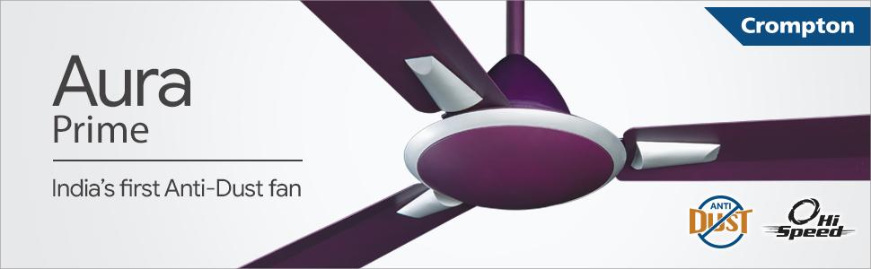 Crompton Ceiling Fan Aura Prime Antidust Lilac Matt