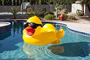 Amazon Com Game Derby Duck Inflatable Swimming Pool Float
