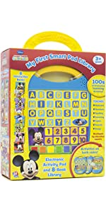 Mickey Mouse Clubhouse - First Smart Pad Activity Pad and 8-Book Library