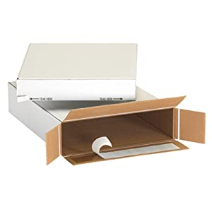 White Self-Seal Side Loading Boxes Mailing Shipping