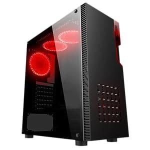 Njoy Santinel Caja de PC con Cristal y LED, Gabinete Gamer ATX, x4 ...