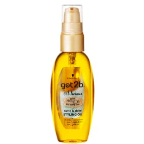 Schwarzkopf got2b Oil-licious Styling Oil, argan oil for