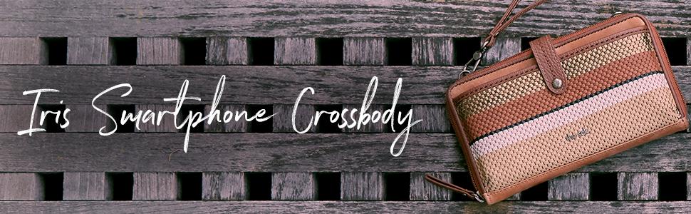 iris, smartphone, crossbody, the sak, leather