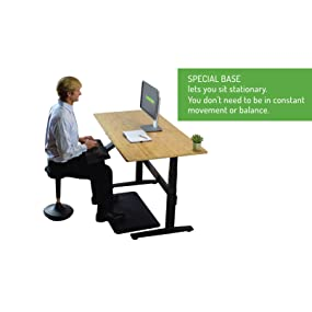 adjustable height swivel active sitting chair standing desk stool
