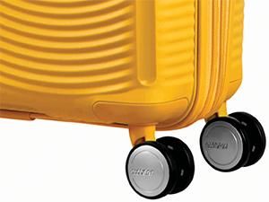 Soundbox; American Tourister; Suitcase; Golden Yellow; Wheels
