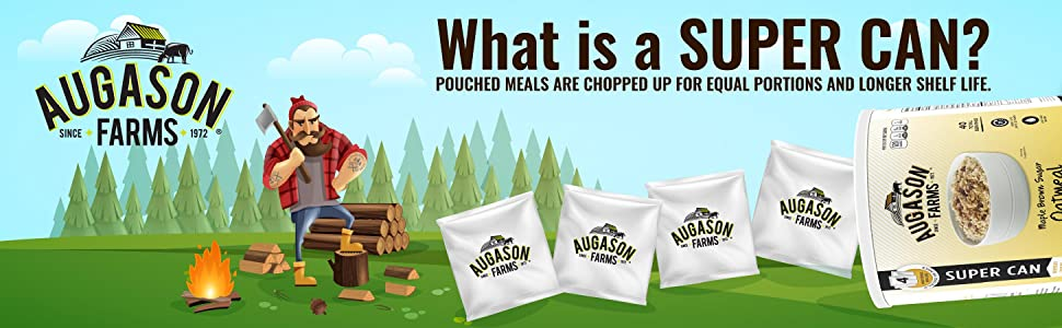 Augason Farms Emergency Preparedness Food Storage Camping Outdoor Food Backpacking Super Can Lumber
