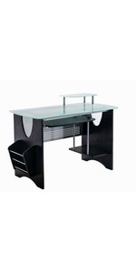 Espresso Frosted Glass desk