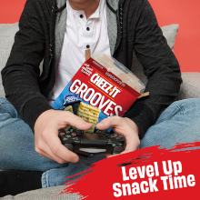 Amp up your video gaming sessions with Cheez It Grooves between rounds with friends