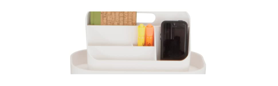 Black Safco Products 3286BL Mobile Caddy