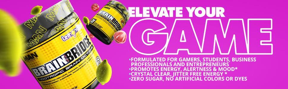 BrainBridge Nootropic GFuel Gamer Fuel