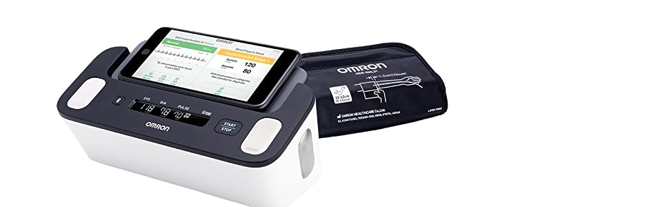 Complete 2-in-1 Blood Pressure Monitor and EKG Device for At-Home Use