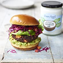 Alesha Dixon's Blackbean, Beetroot & Feta Burger with Mango Slaw Organic Virgin Coconut Oil