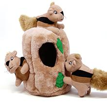 hide a squirrel puzzle plush dog toys