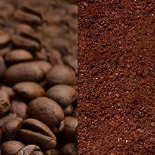 コーヒー豆、コーヒー粉どちらも対応