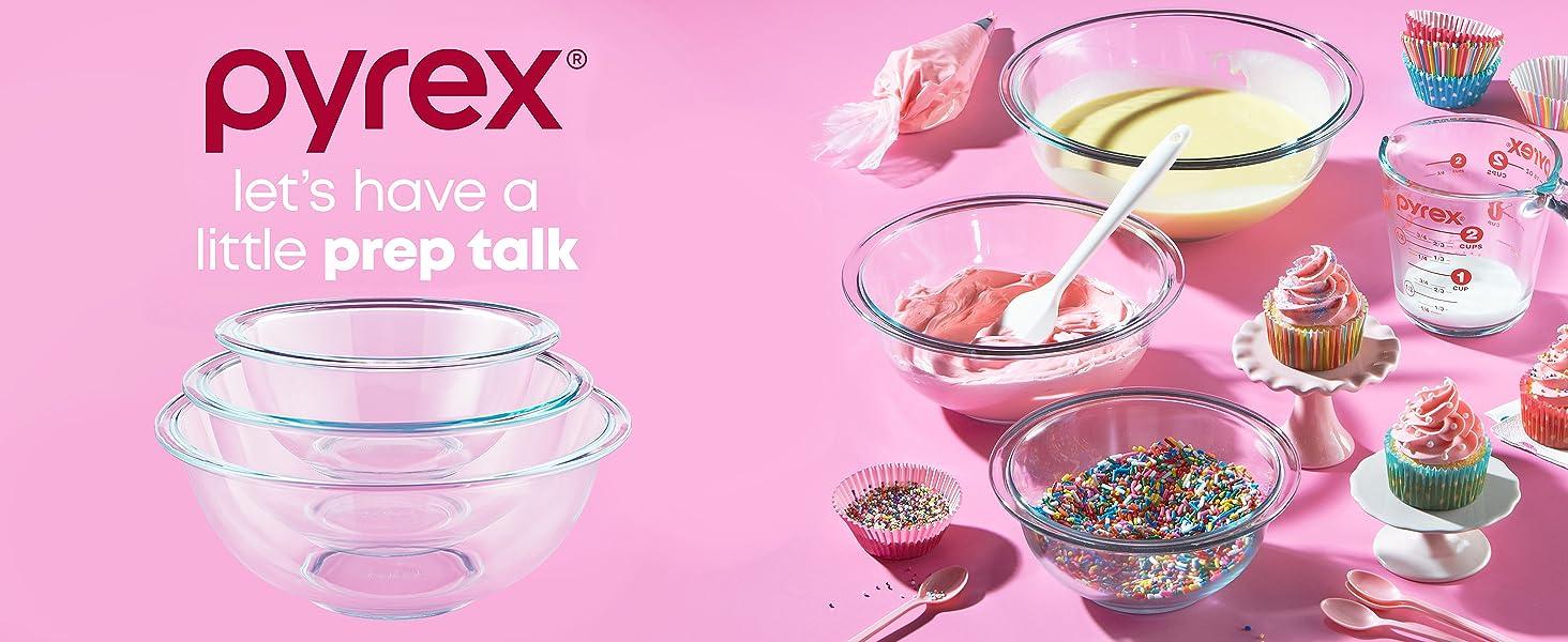Pyrex Australia, Pyrex Essential Mixing Bowls, Dishwasher Safe, 100% Pyrex glass