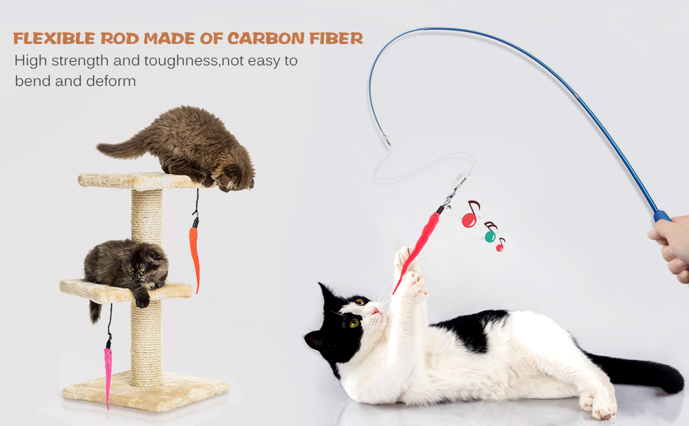 flexible wand for cat fun