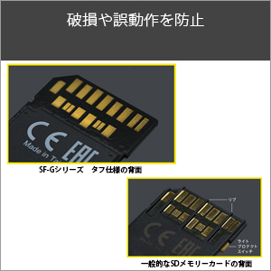 【TOUGH(タフ)】リブやライトプロテクトスイッチをなくし破損を防止