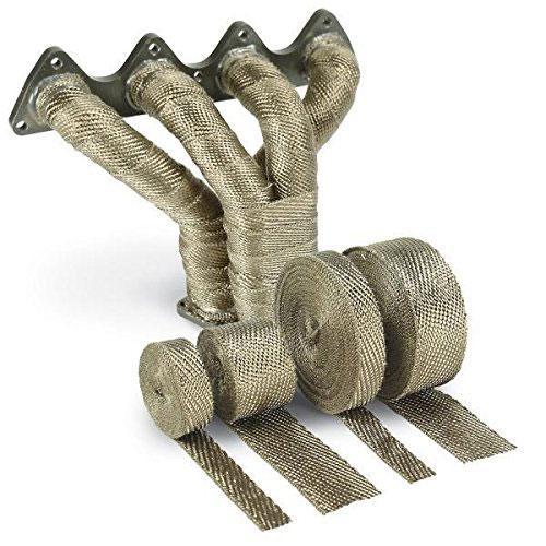 Exhaust Heat Wrap >> Amazon Com Design Engineering 010134 Titanium Exhaust Heat Wrap