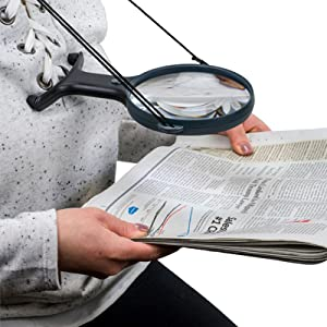 Reading, Newspaper, LED Lighted, Magnifier