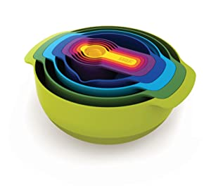 nest 9 nesting bowls mixing bowl set