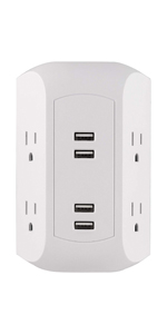 usb a outlet outlets surge protection protectors wall tap plug adapter