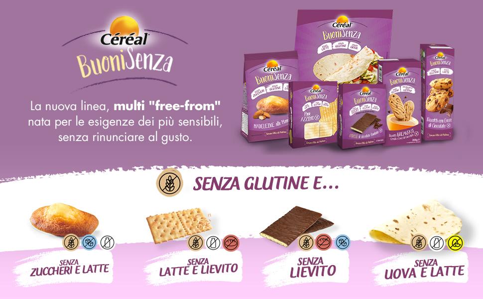 Free-from; Linea Céréal; buonisenza;