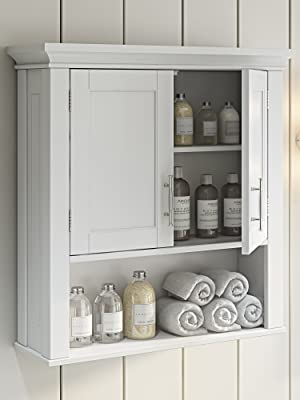 two door wall cabinet in whiite