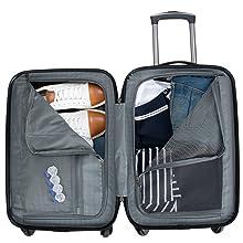 Luggage, Suitcase, Set, Designer, Lightweight, Nottingham, Ben Sherman, Travel, Durable, ABS