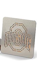 NCAA Ohio State Buckeyes Stainless Steel Boasters Coasters Set